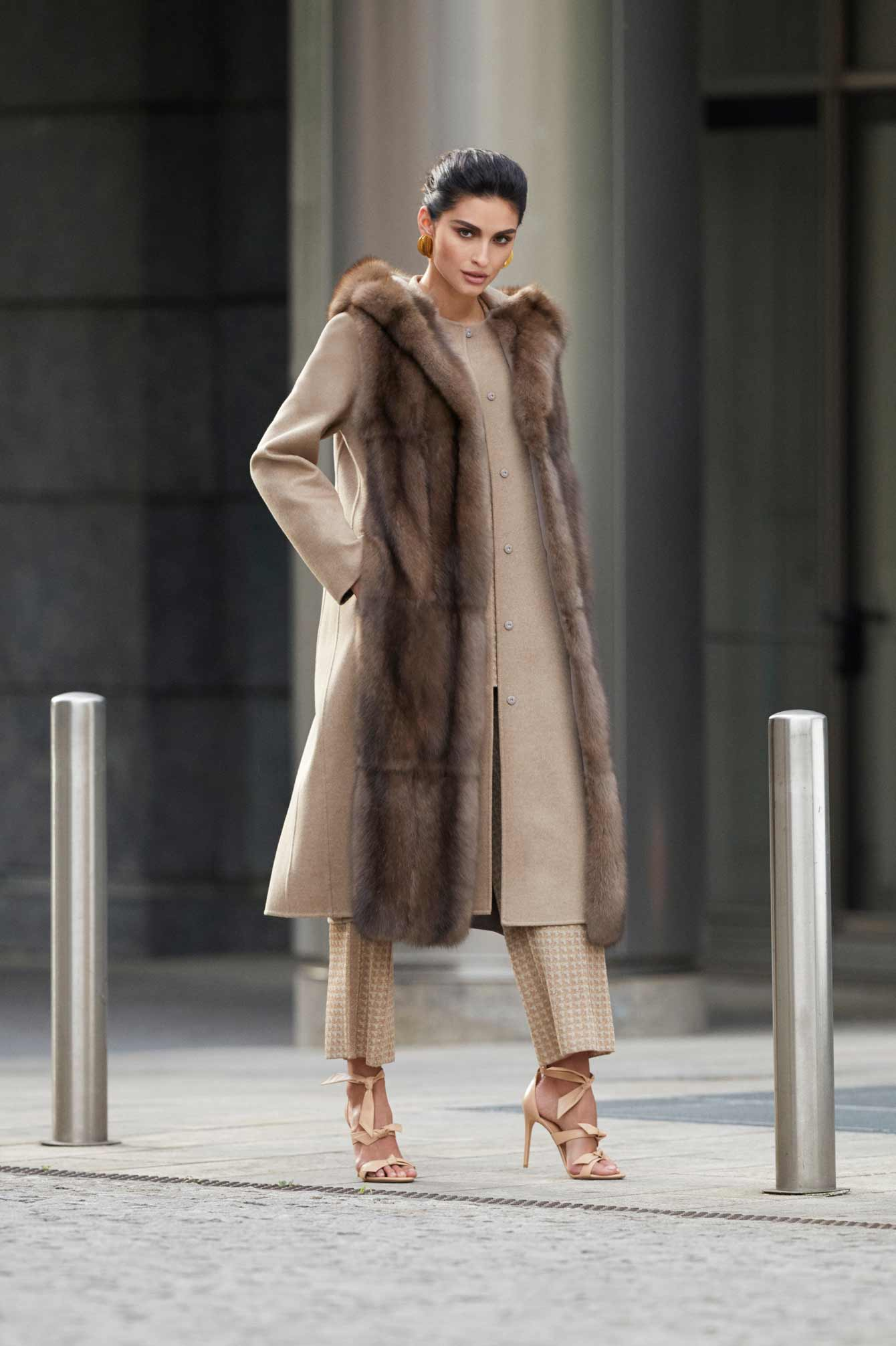 Womens coat with fur