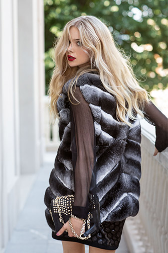 Chinchilla vest. Italian fur coats.