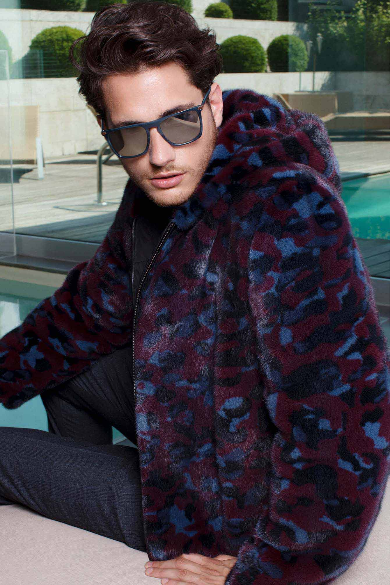Men mink fur coats