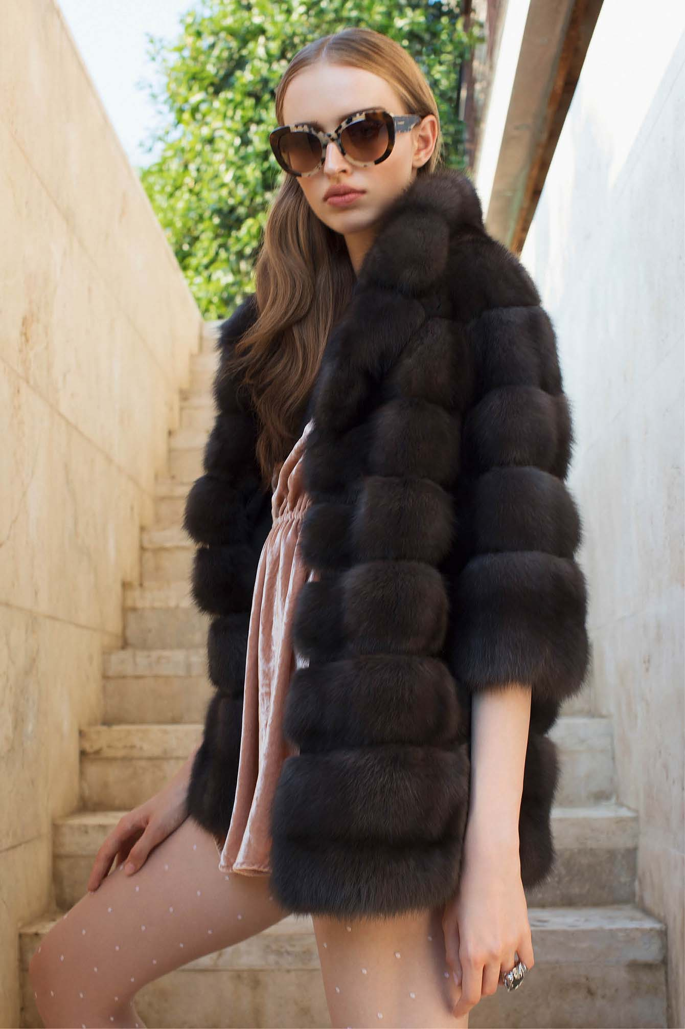 Brown sable coat Italy