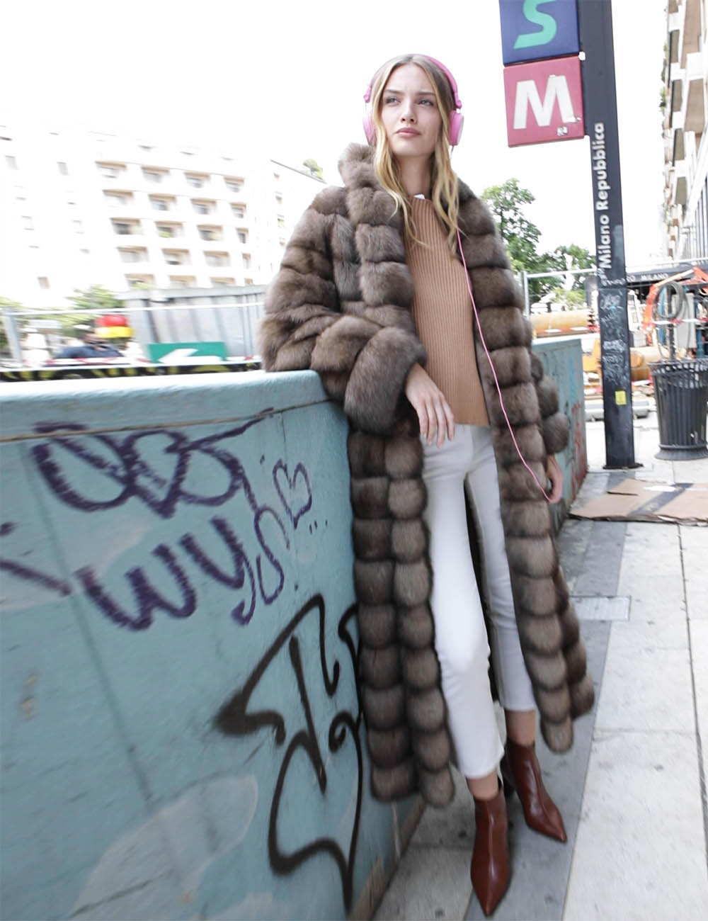 New Look Full Length Sable Coat Beige Color, How Much Is A Sable Coat