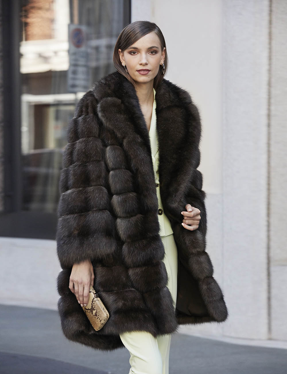 Luxury Black Sable Coat, How Much Is A Sable Coat